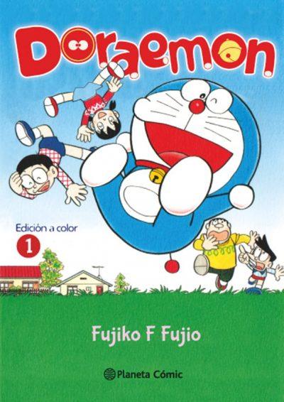 Así es la portada del primer volumen de Doraemon a todo color