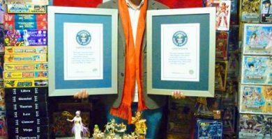 Jorge de Pegaso recupera el record Guiness de la mayor colección de Saint Seiya del mundo