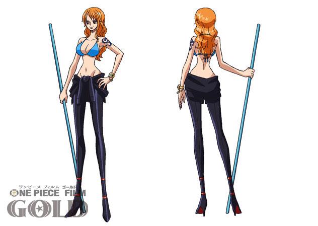 Se muestran los diseños de los personajes para la One Piece Film Gold