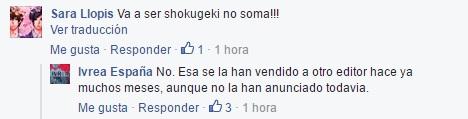 Shougeki no soma llegará a España por una editorial que no es Ivrea