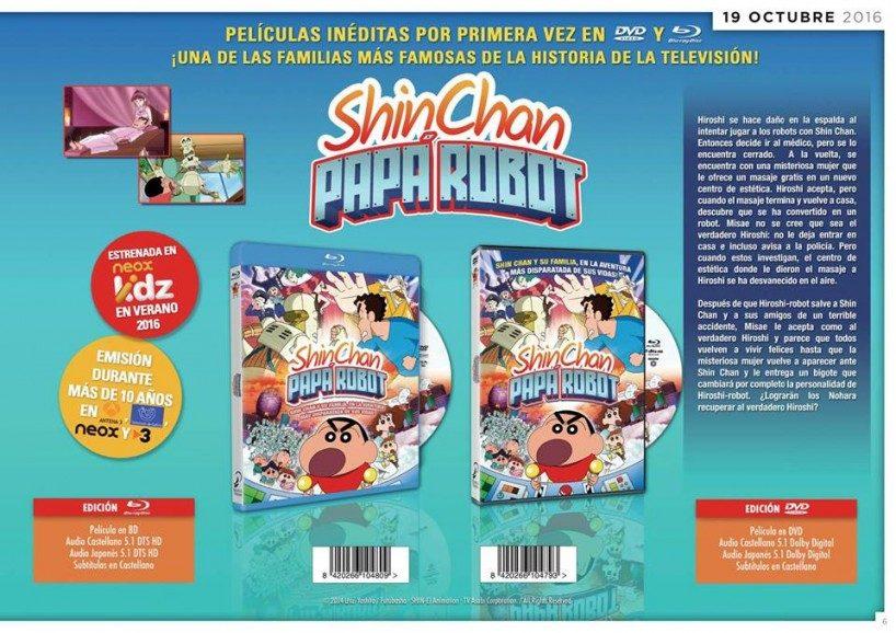 Selecta Visión distribuirá las últimas cuatro películas de Shin-chan