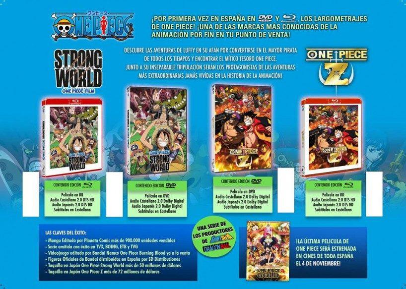Selecta Visión presenta las ediciones de One Piece Film Z y Strong World