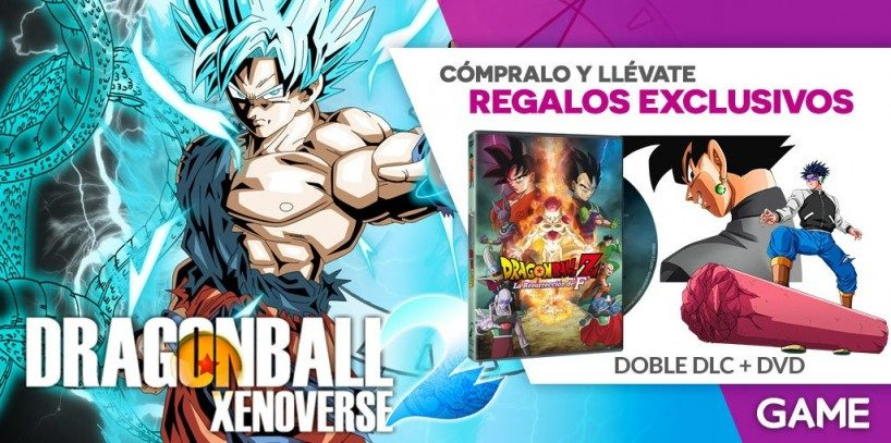 Haze con una copia en DVD de Dragon Ball Z: La resurección de F con tu reserva de Dragon Ball Xenoverse 2