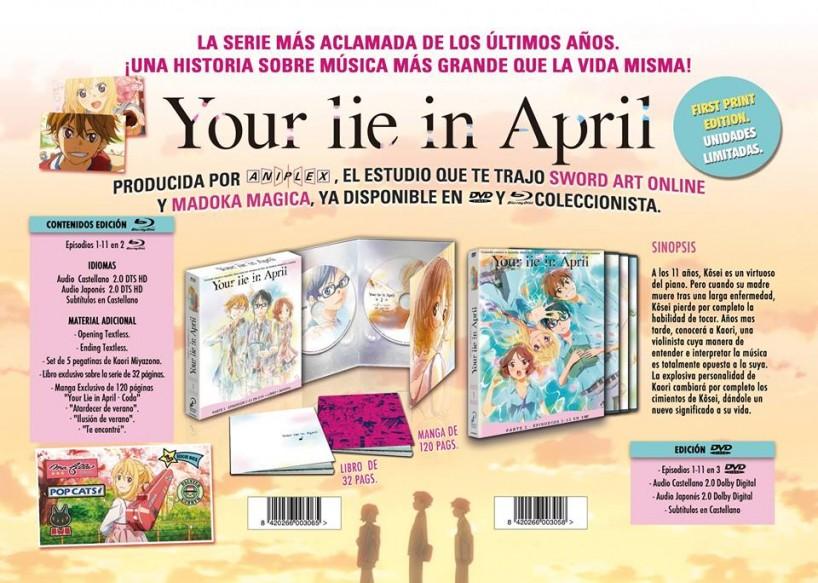 Selecta Visión da fecha de lanzamiento y precio al pack de Your lie in april